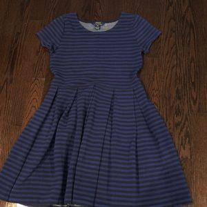 Black and blue striped Ralph Lauren dress